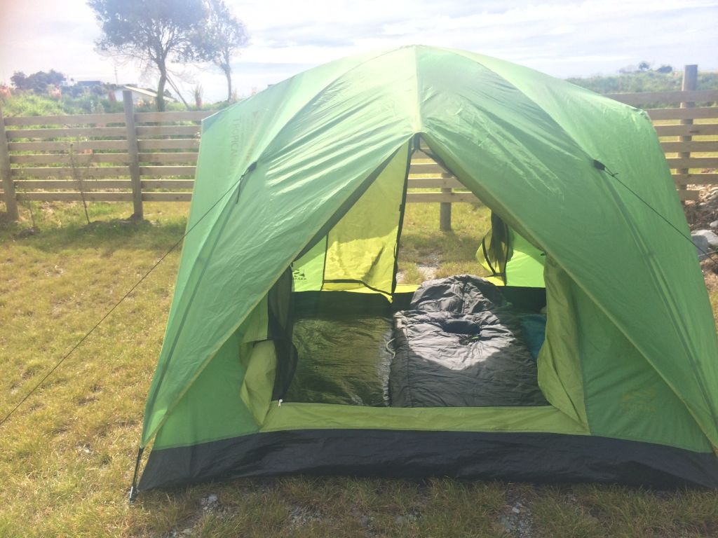 Campsite Tent New Zealand Green