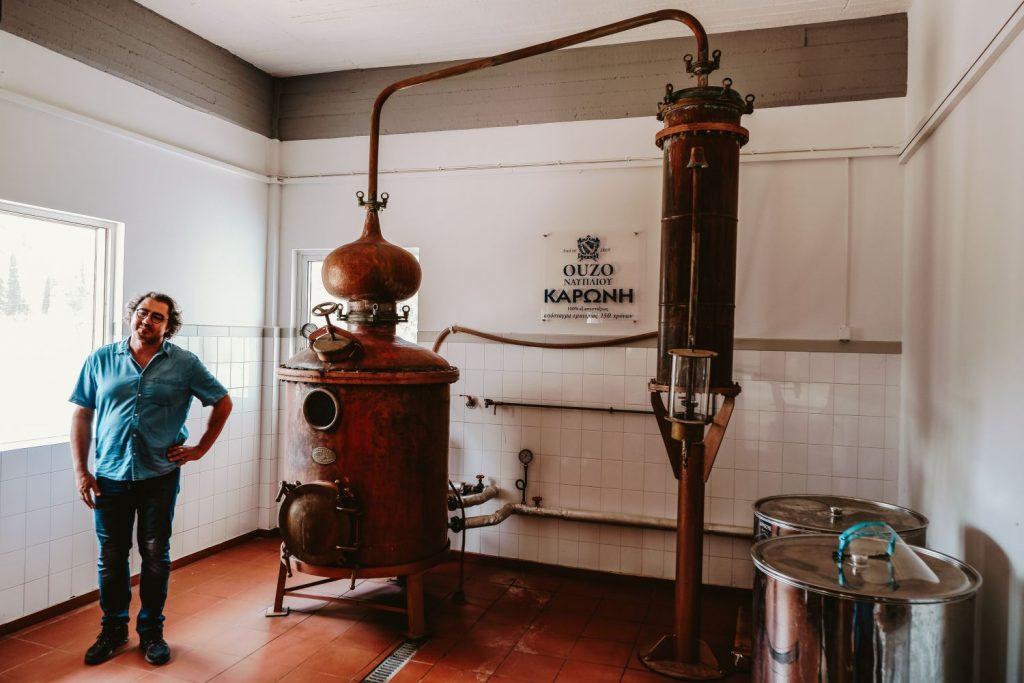 Ouzo Karonis Distillery Greece